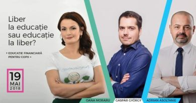 Conferinta cu Gáspár György, Oana Moraru si Adrian Asoltanie despre educatia financiara pentru copii
